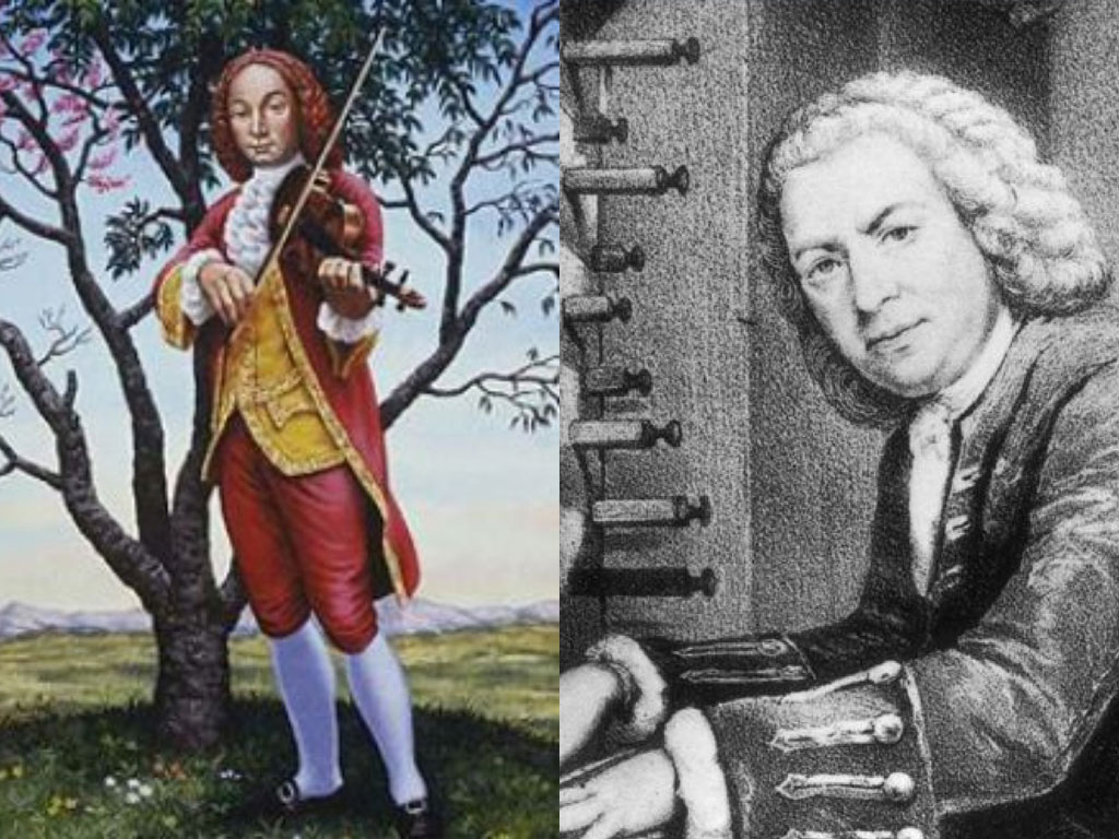 illustrations of famous composer of venice Antonio Vivaldi